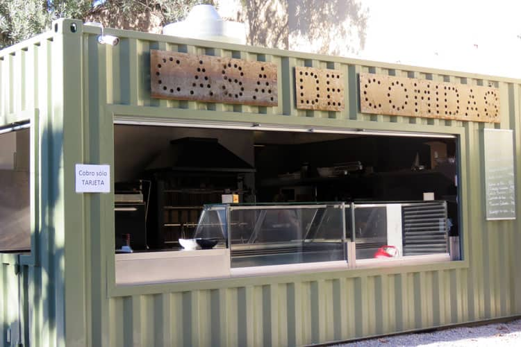 Fast food shipping container