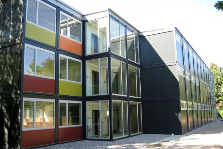 hotel assembled from customized shipping containers