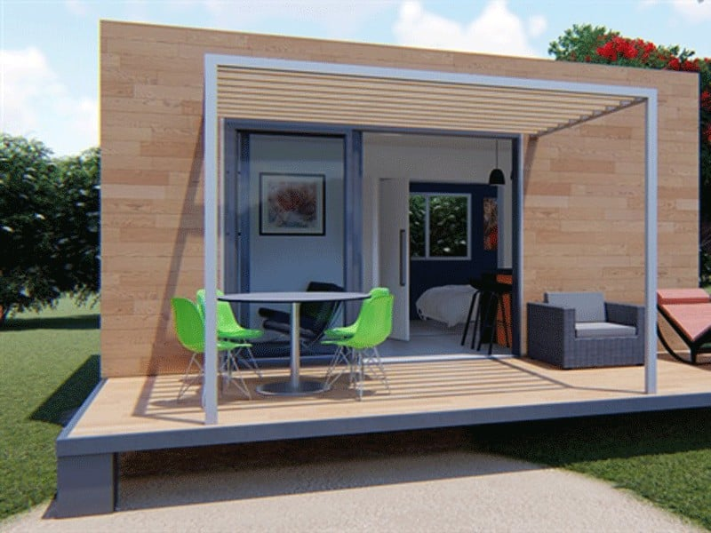 Studio container home built by Readyhomes NZ