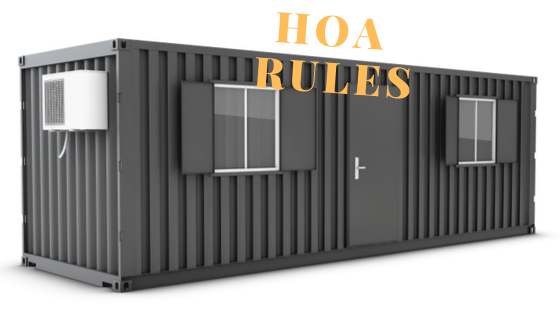 HOA rules and regulations