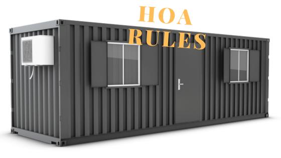 HOA rules and regulations