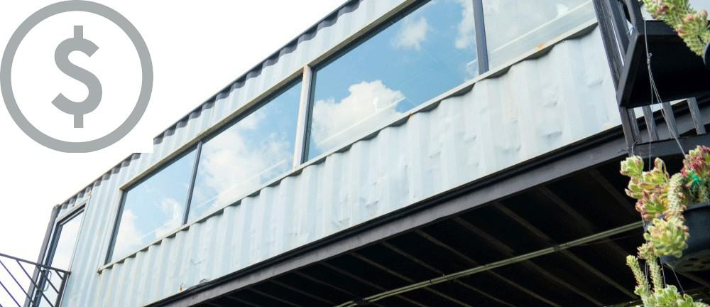 exterior container home cost