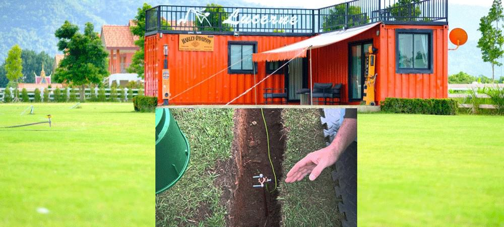 Grounding-and-earthing-shipping-container-home