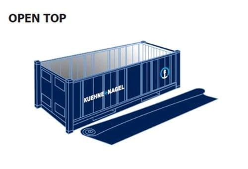 open-top-shipping-container