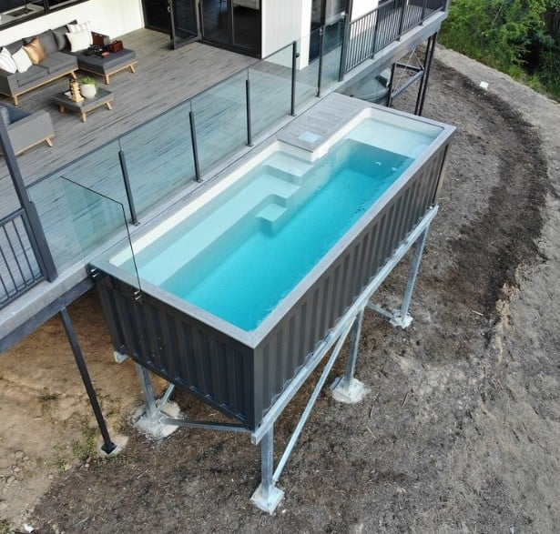 Cantilevered Container Pool