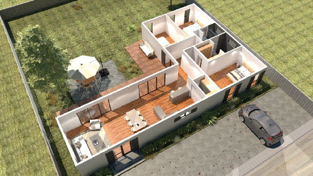 3d plan container house Florida