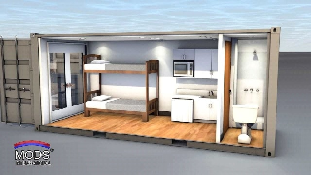3d plan shipping container studio india