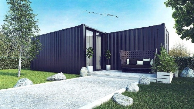 Beautiful shipping container home UK