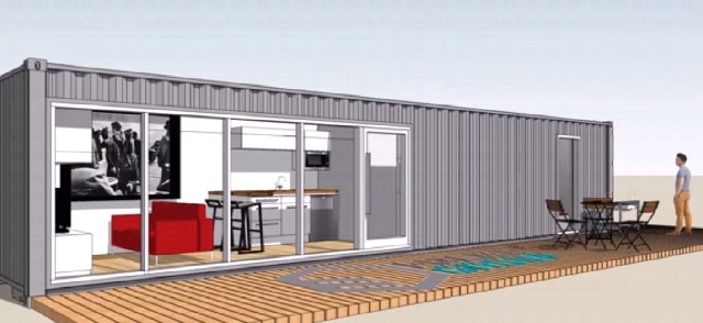 Buy Shipping Container Home in Florida exterior