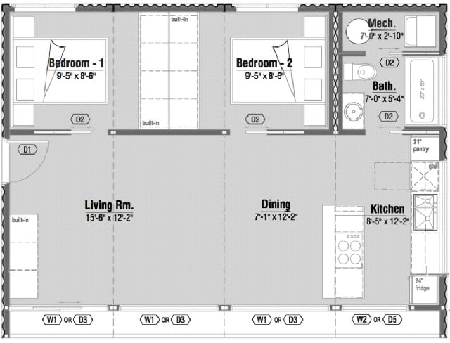 Shipping container home floor plan CA