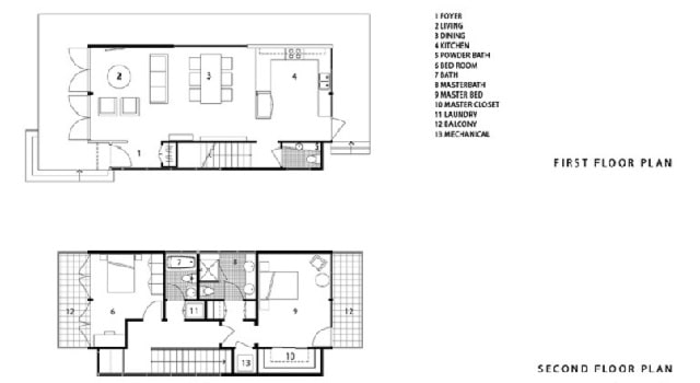 Shipping container home floor plan California