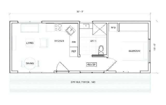 Shipping container home layout plan