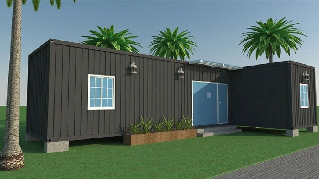 Two bedroom shipping container home