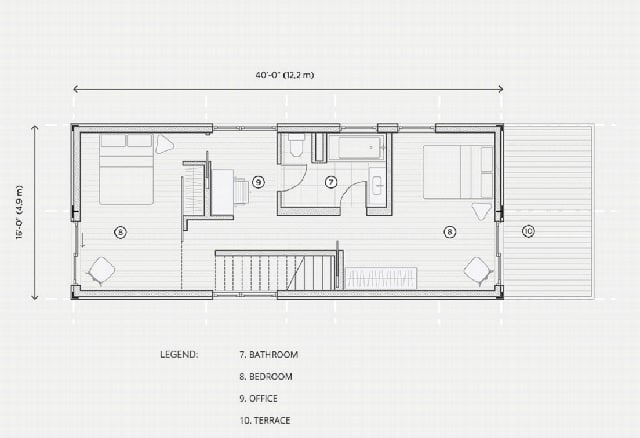 blueprint plan shipping container home