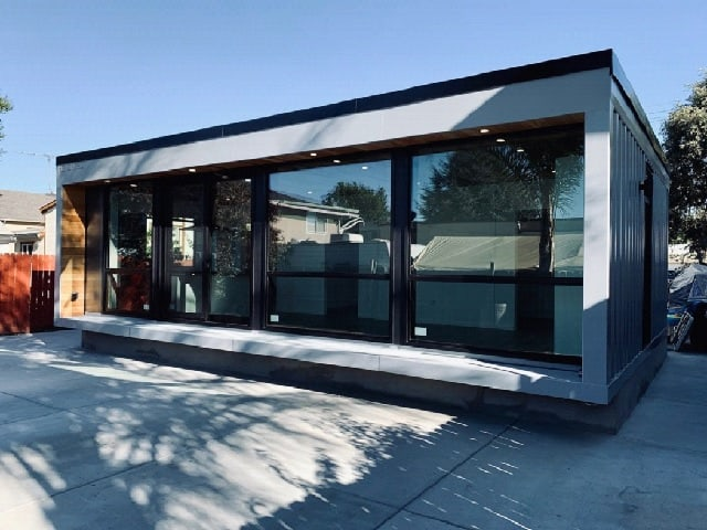 exterior californian container home