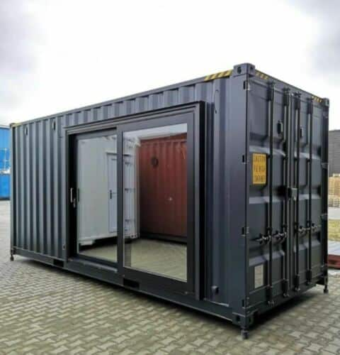 lux shipping container home exterior