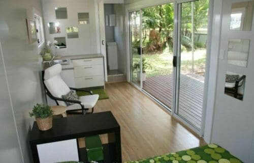 lux shipping container home intenior