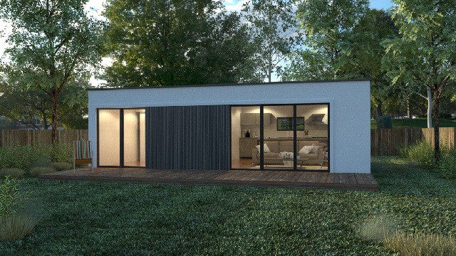 prefab shipping container home exterior US
