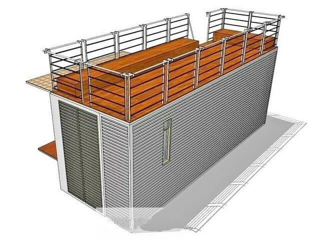 shipping container studio exterior