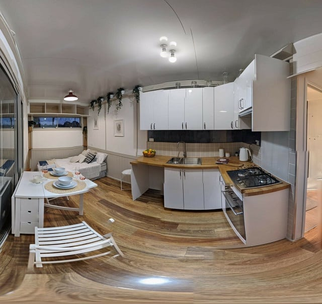 tiny container home interiors