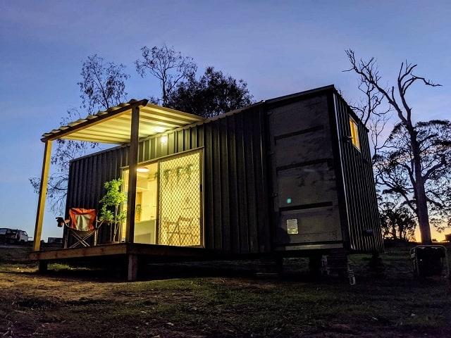 tiny studio container house exterior