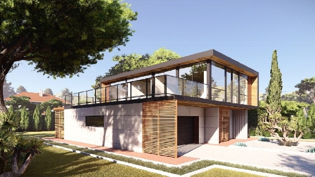two storey container home Florida