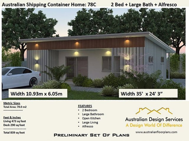 medium size shipping container home plan