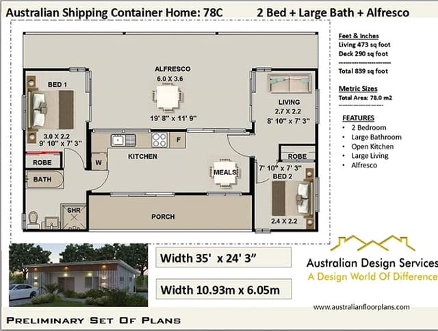 medium size shipping container home plans