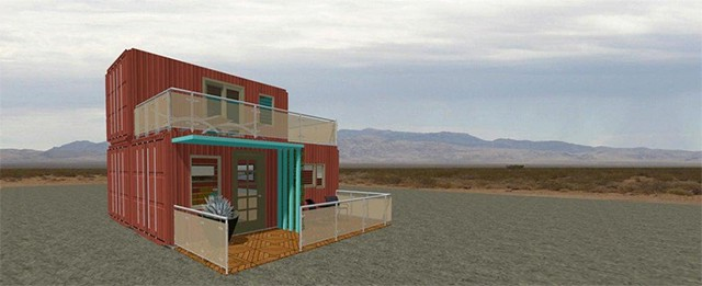 shipping container home 3d plan