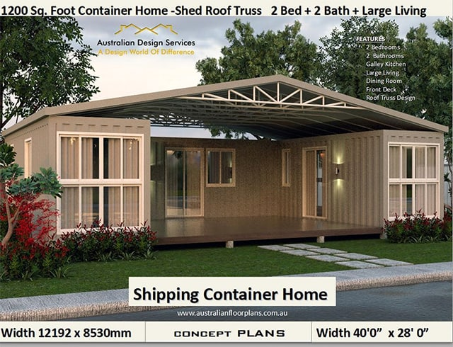 three container home plan