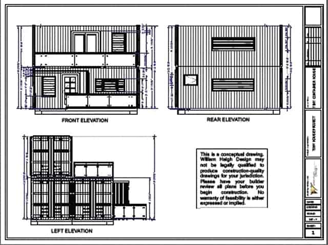 two storey container house plan