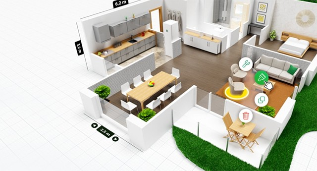 5d floor plan container home