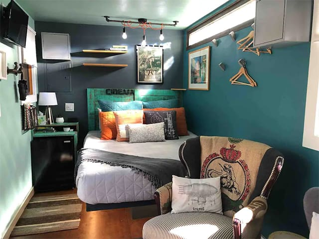 AirBnB Container Home interior