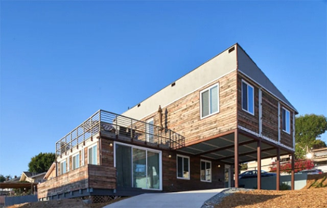 Airbnb container home exterior