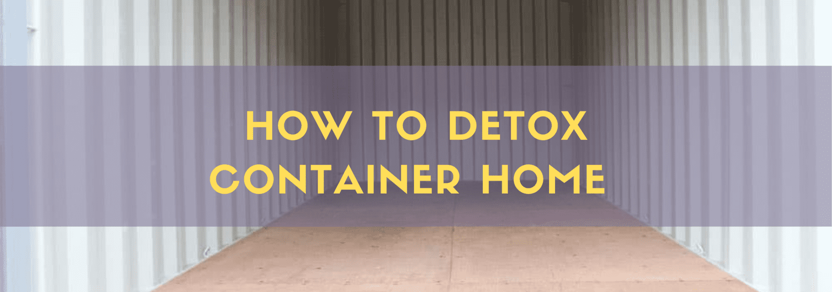 Detox shipping container home