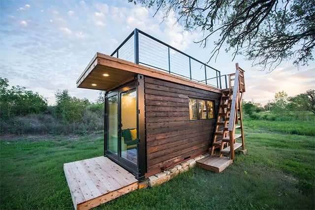 Tiny container home Airbnb