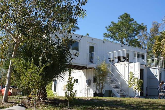 exterior container home rental Florida