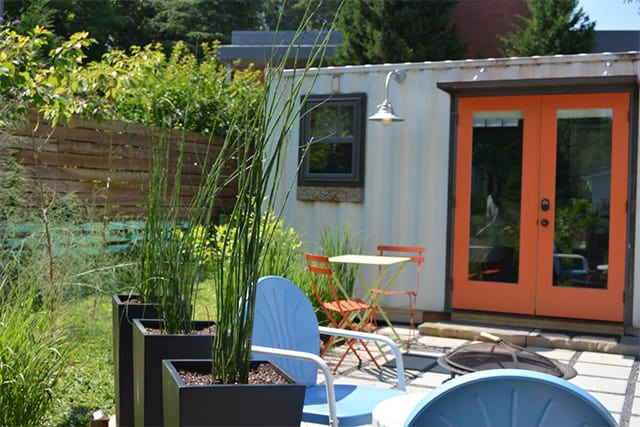 exterior shipping container rental home airbnb