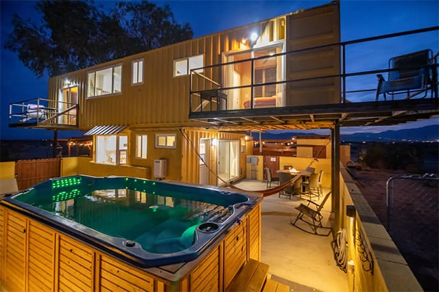 exterior shipping container rental home