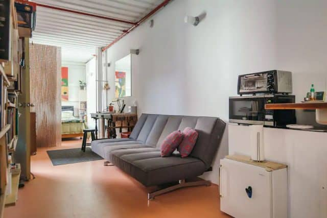 interior airbnb container home
