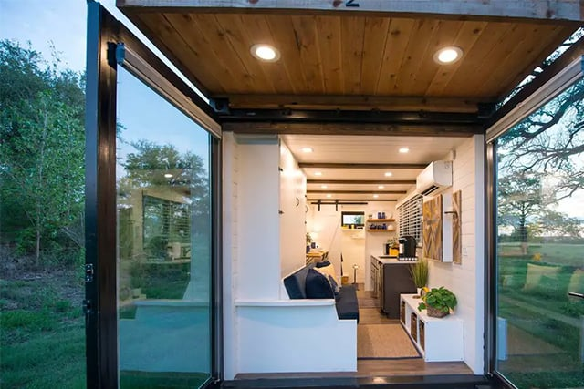 interior airbnb container house rental