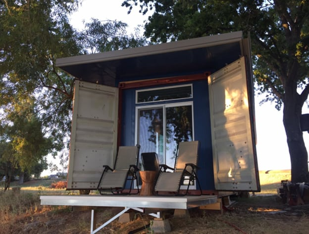 Used shipping container cabin