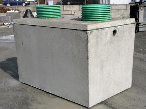 Precast concrete septic tank. Source: Berg Vault Company