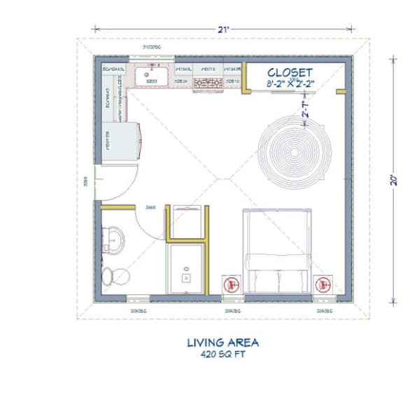 Container Home Floor Plan