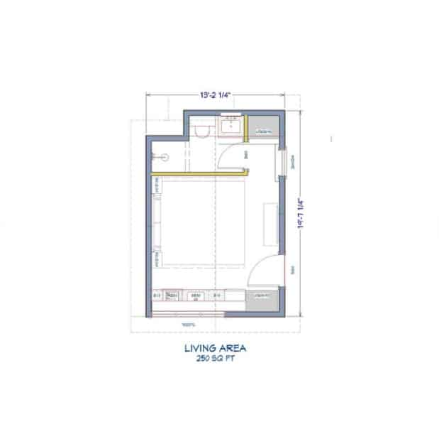 One room home plan