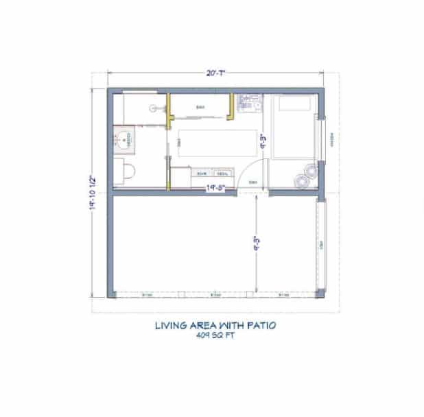Plan za studio container home