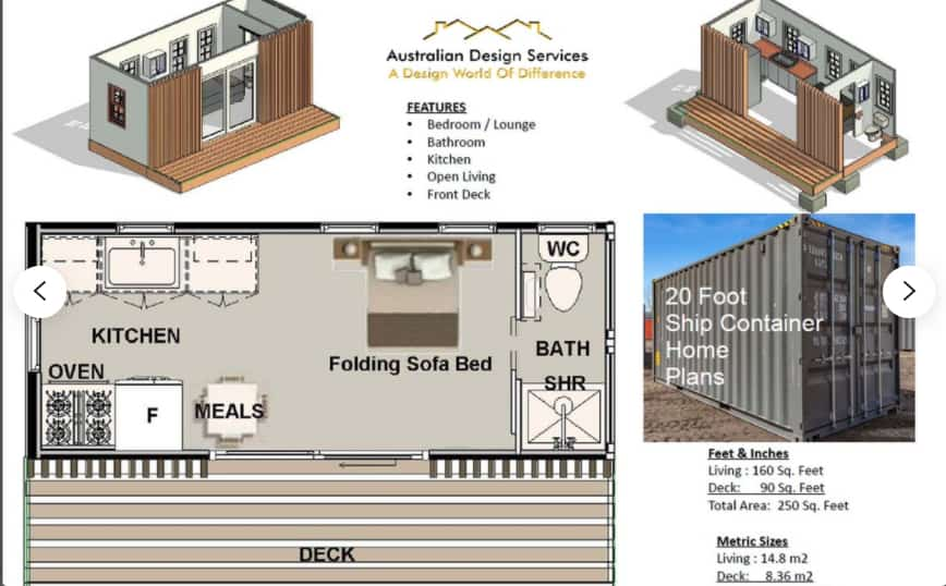 Shipping Container Studio Plan
