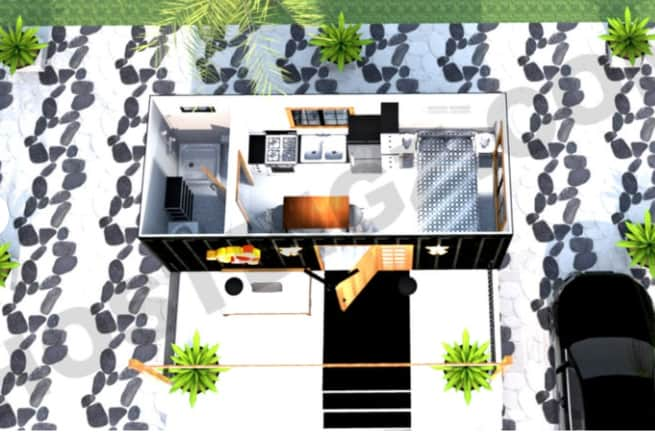 Studio shipping container plan